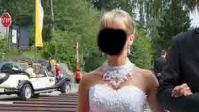 """piękna suknia ślubna typu """"syrena"""""""