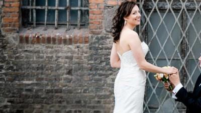 Piękna suknia ślubna w fasonie rybki Sweetheart 5897