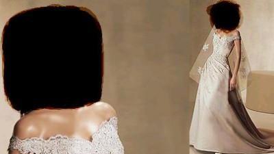 piękna suknia ślubna w kolorze ecru
