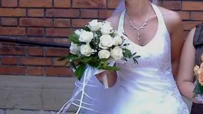 Piękna suknia ślubna, w stanie idealnym, założona tylko !!!! do Kościoła