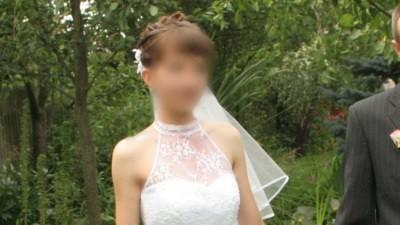 piękna suknia ślubna z francuskimi koronkami