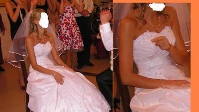 Piękna suknia slubna z gratisami