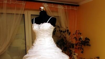 Piękna suknia ślubna z trenem modek EDDY K NOWA!!! Gorzów Wlkp