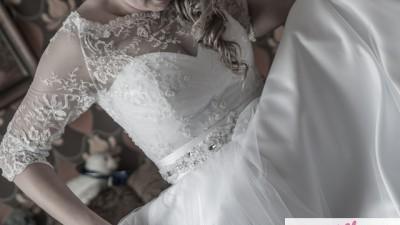 Piękna suknia z trenem