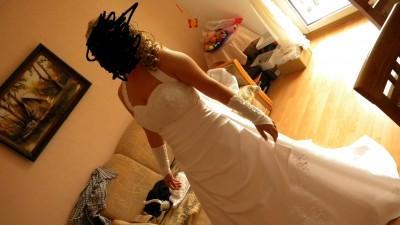 Piekna suknie slubna +1,5m trenu
