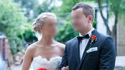 Piękna tiulowa suknia ślubna!