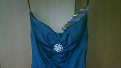 Piękna turkusowa NOWA sukienka! tuszuje fałdki!:)