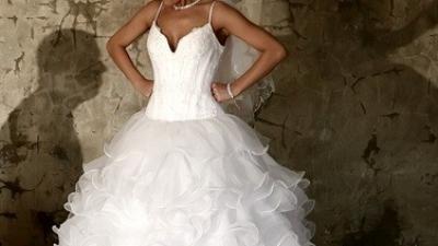Piękna włoska suknia ślubna Eddy K. Milano model md 01