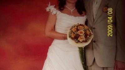 Piękna-wyjątkowa i jedyna w swoim rodzaju francuska suknia ślubna MOSIVO