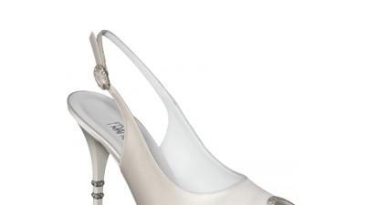 Piękne buty ślubne. FRANCESCO Italy. Kryształki Swarovskiego.