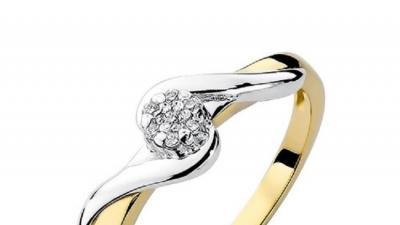 Pierścionek złoty z diamentami BD-W22
