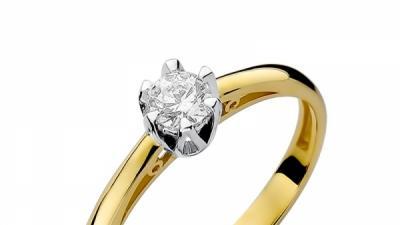 Pierścionek złoty z diamentem BD-W133