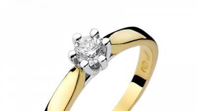 Pierścionek złoty z diamentem BD-W222 0,08ct
