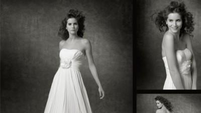 PLISOWANA suknia ślubna Sweetheart 5928 kolor ecru (cream), rozm. 36 (8)