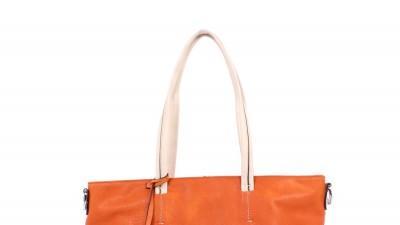 Pomarańczowo kremowa torebka