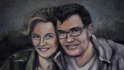 Portrety ślubne malowane na zamówienie
