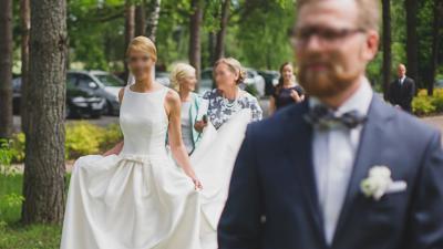 PRONOVIAS BARCAZA suknia ślubna + długi welon 2,5m