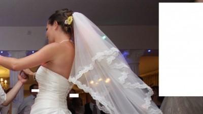 Prosta piękna suknia śluna w kolorze ecri Nowy Sącz