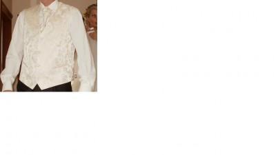 Przepiękna kamizelka ślubna z fularem