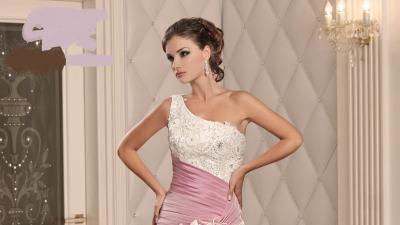 Przepiękna, kolorowa,oryginalna suknia ślubna o rozmiarze 38