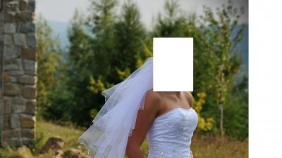 Przepiękna Koronkowa Suknia Ślubna r 38.....welon GRATIS!