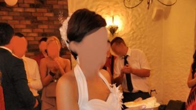 Przepiekna krótka sukienka ślubna