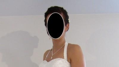Przepiękna lekka suknia ślubna z elementami koronki!