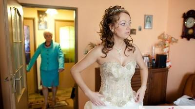 przepiękna suknia ecri/capuccino
