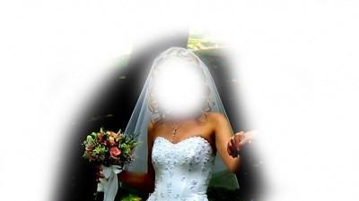 """Przepiękna suknia """"księżniczka"""", 34/36, wysadzana kryształami swarovskiego"""