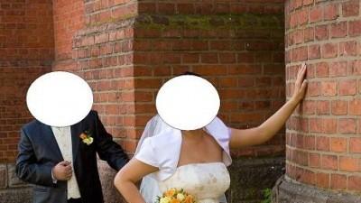 Przepiękna suknia ślubna.