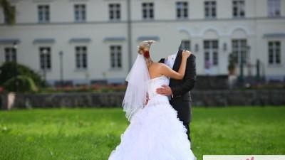 Przepiekna suknia ślubna Avocat z Francji