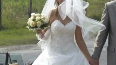 Przepiękna suknia ślubna ecri 36/38