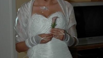 Przepiękna suknia ślubna firmy Agnes (model 1600) z kolekcji 2007.
