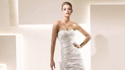 Przepiękna suknia ślubna marki Impresja w fasonie rybki