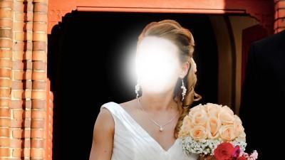 przepiękna suknia ślubna z kremową taśmą