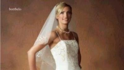 Przepiękna suknie Herm's model Borrbelo z trenem