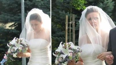 Przepięknie ręcznie wyszywana suknia ślubna z trenem!!!
