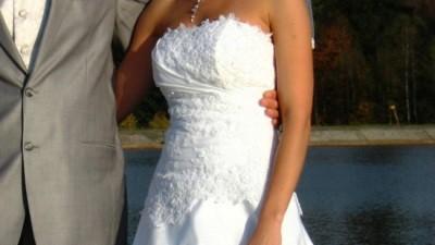 Prześliczna biała suknia MS Moda, roz. 36 - okazja!!
