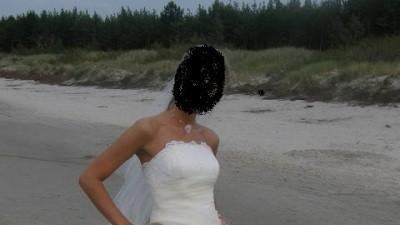 Prześliczna i delikatna suknia ślubna