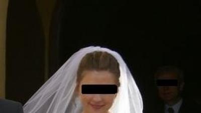 PRZEŚLICZNA, KORONKOWA SUKNIA ŚLUBNA - 750 zł