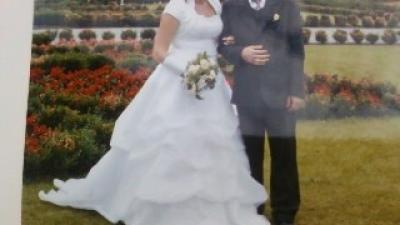 Prześliczna suknia ślubna.