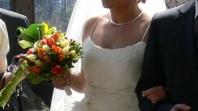 Prześliczna suknia ślubna MY 06 08, ecru + welon!