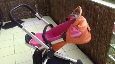 Quinny Buzz 3 kołowy różowo-pomaranczowy