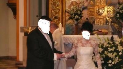 Romantyczna i elegancka suknia ślubna (ecru) + dodatki (bolerko, halka)