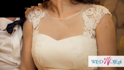 Romantyczna koronkowa suknia KIRUN - model 2015 firmy Papa Michel