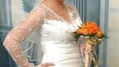Romantyczna -niepowtarzalna suknia ślubna 40-42