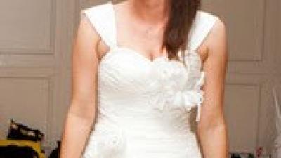 Romantyczna suknia-kolor IVORY-rozmiar 38