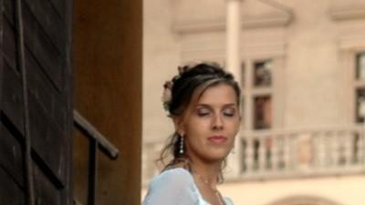 Romantyczna suknia ślubna dla subtelnej kobiety