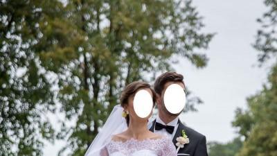 Romantyczna suknia ślubna MYSTIC Biała, r 36/38 GRATIS bluzka i welon!!!