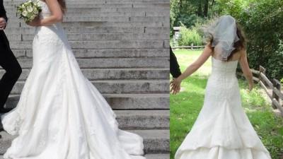 SAN PATRICK PRISMA  hiszpańska koronkowa suknia ślubna